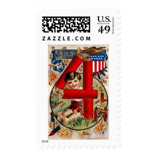 Vintage Independence Day Postage Stamp