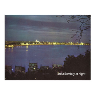 Vintage, India, Bombay by night Postcard