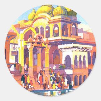 Vintage India Classic Round Sticker
