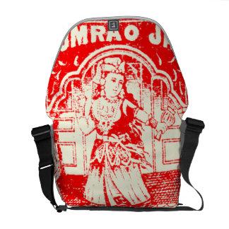 Vintage India Matchbook Label Messenger Bag