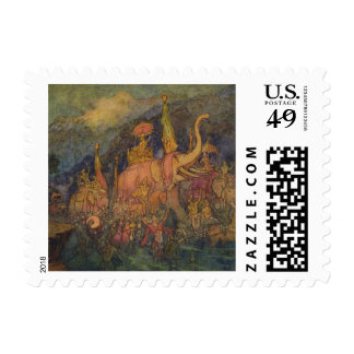 Vintage India Mythology Stamp