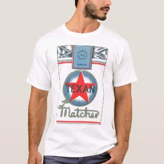 Vintage India Texan Matches Matchbook Illustration T-Shirt
