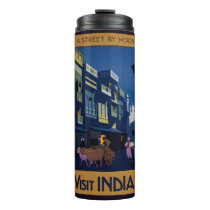 Vintage India Travel Poster collage custom tumbler