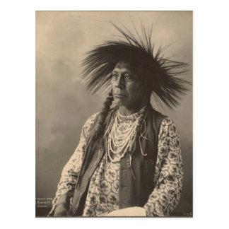 Vintage indian : Antoine Moise, Flathead - Postcard