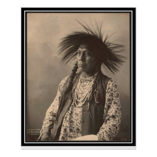 Vintage indian : Antoine Moise, Flathead - Poster