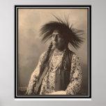 Vintage indian : Antoine Moise, Flathead - Print