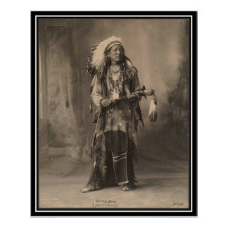 Vintage indian : Black Man, Arapahoes - Poster