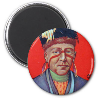 Vintage Indian Chewing Gum Chief Wabaunsee Magnet