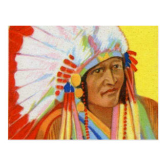 Vintage Indian Chewing Gum Chief Weasel Calf Postcard