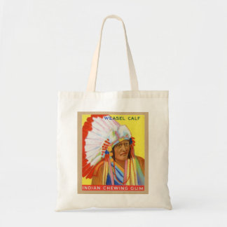 Vintage Indian Chewing Gum Chief Weasel Calf Tote Bag