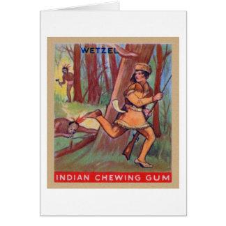 Vintage Indian Chewing Gum Frontier Lewis Wetzel Card