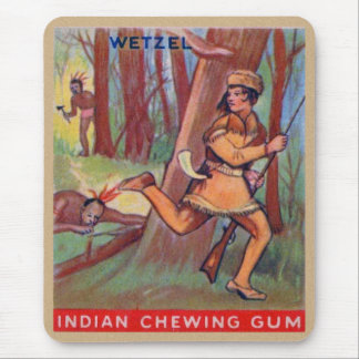 Vintage Indian Chewing Gum Frontier Lewis Wetzel Mouse Pad