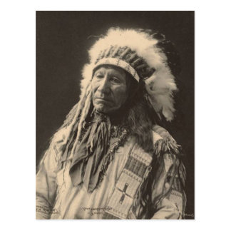 Vintage indian : Chief American Horse, Sioux - Postcard