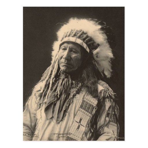 Vintage indian : Chief American Horse, Sioux - Post Card