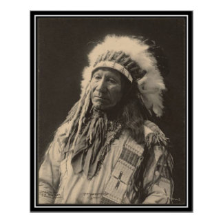 Vintage indian : Chief American Horse, Sioux - Poster