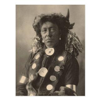 Vintage indian : Cloud Man, Assinaboine - Postcard