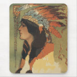 Vintage Indian Girl Mouse Pad