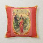 Vintage Indian Goddess Pillow