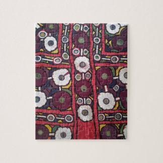 Vintage Indian Handmade Textile Print Jigsaw Puzzle