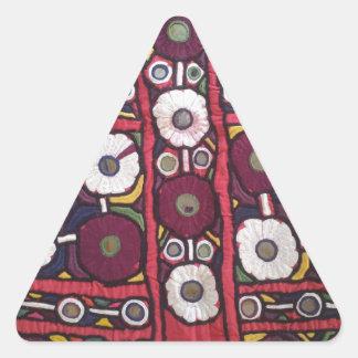 Vintage Indian Handmade Textile Print Triangle Sticker