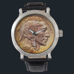 "Vintage Indian Head Nickel Coin Native American Wrist Watch<br><div class=""desc"">.</div>"