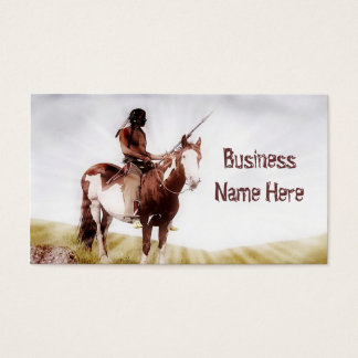 Vintage Indian on Pony Business Cards