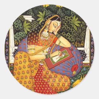 VINTAGE INDIAN PRINCESS CLASSIC ROUND STICKER