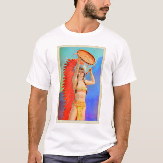 Vintage Indian Princess Pin Up Art Girl T-Shirt