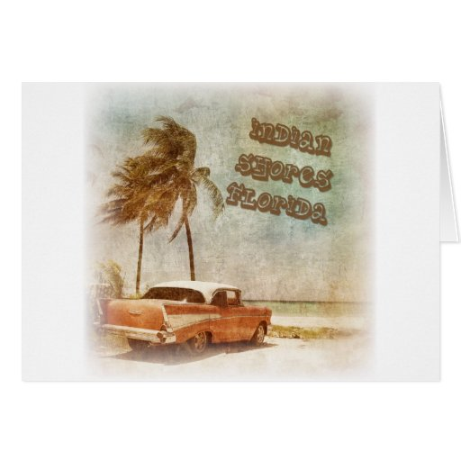 Vintage Indian Shores Beach Scene Greeting Cards