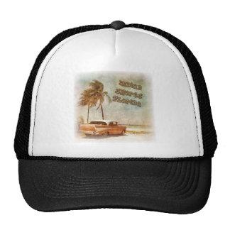 Vintage Indian Shores Beach Scene Mesh Hats