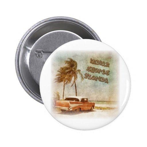 Vintage Indian Shores Beach Scene Pins