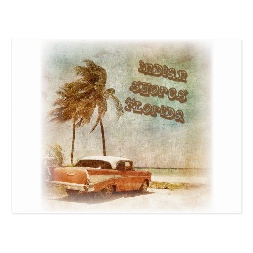 Vintage Indian Shores Beach Scene Post Card