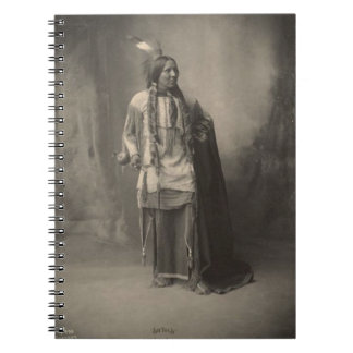 Vintage indian : Six Toes, Kiowa - Spiral Notebook