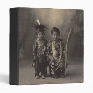 Vintage indian : Two Little Braves, Sac & Fox - 3 Ring Binder
