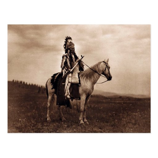 Vintage Indian War Chief Post Card