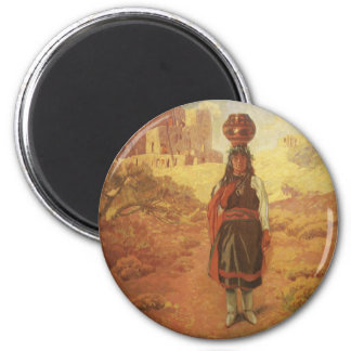 Vintage Indian Water Carrier by EW Rollins Magnet