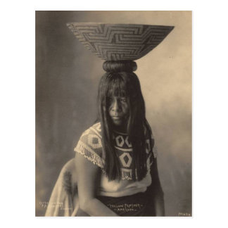 Vintage indian : Yellow Feather, Maricopa - Postcard