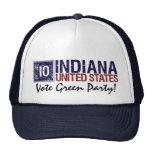 Vintage Indiana del Partido Verde del voto en 2010 Gorro