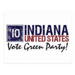 Vintage Indiana del Partido Verde del voto en 2010 Postal