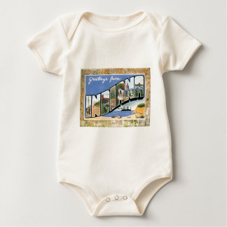 Vintage Indiana Greetings Antique Post Card Baby Bodysuit