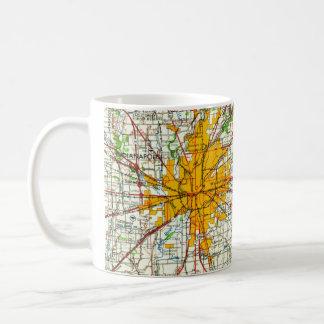 Vintage Indianapolis Map Coffee Mug