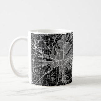 Vintage Indianapolis Map Coffee Mug