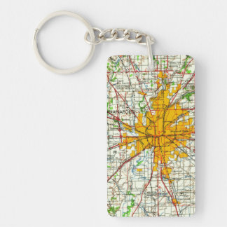 Vintage Indianapolis Map Keychain