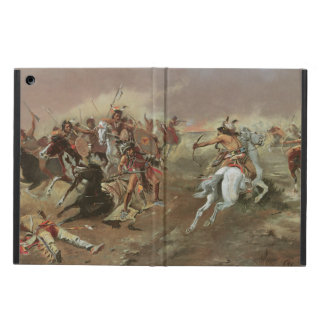 Vintage Indians, For Supremacy by CM Russell iPad Air Cover