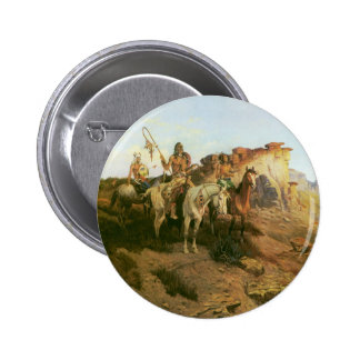 Vintage Indians, Prowlers of the Prairie, Seltzer, Button