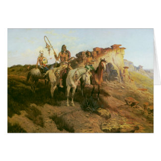Vintage Indians, Prowlers of the Prairie, Seltzer, Card