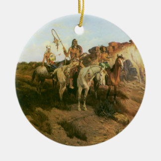 Vintage Indians, Prowlers of the Prairie, Seltzer, Ceramic Ornament