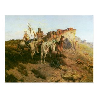 Vintage Indians, Prowlers of the Prairie, Seltzer, Postcard