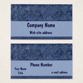 Vintage Indigo Blue Floral Pattern Business Card