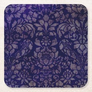 Vintage Indigo Blue Square Coasters